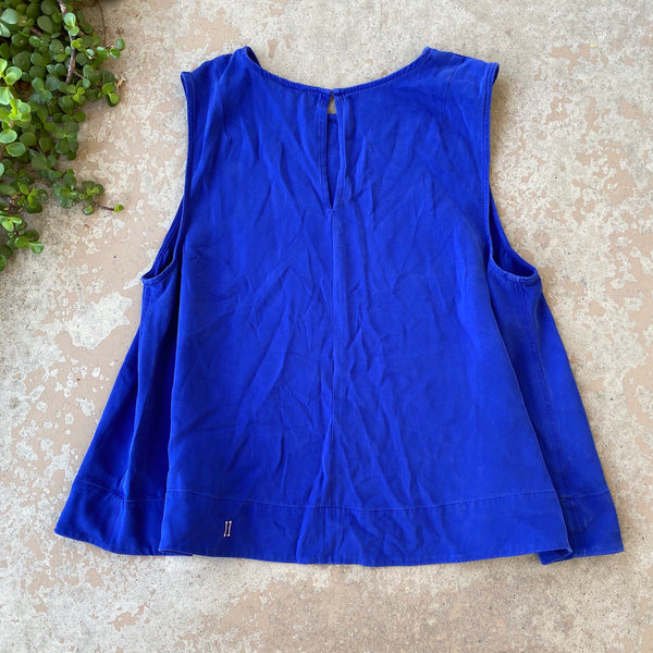 Kit and Ace Blue Silk Top, Size 6