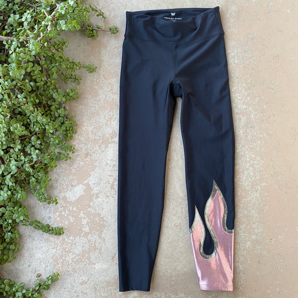 Heroine Sport Flame Leggings, Size Large