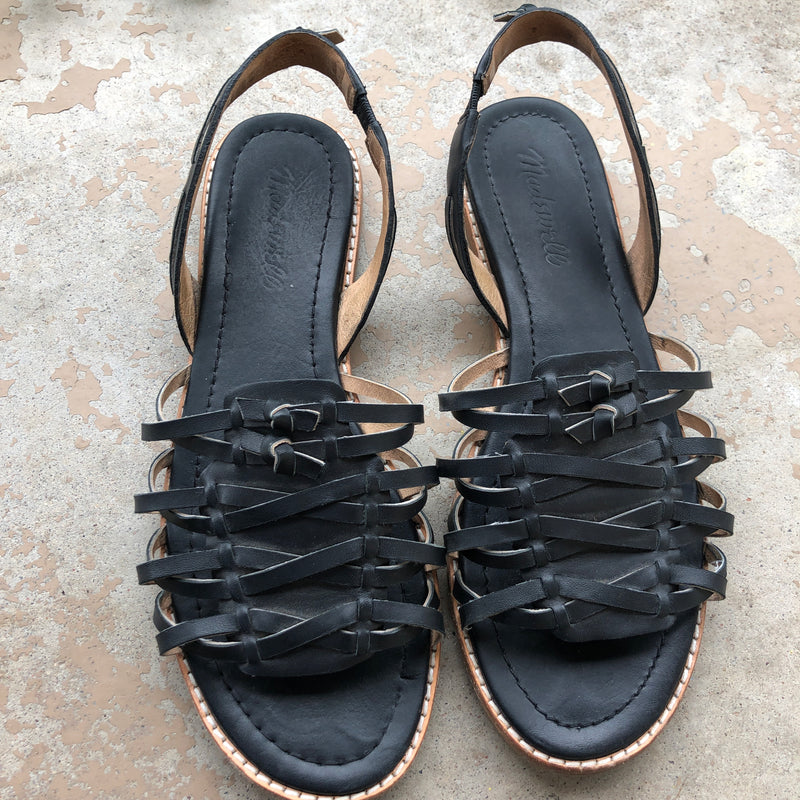 Madewell Black Slingback Sandals, Size 7