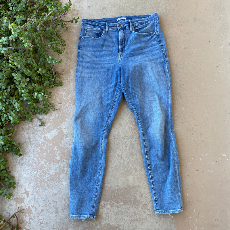 Good American Good Waist Jeans, Size 14/32