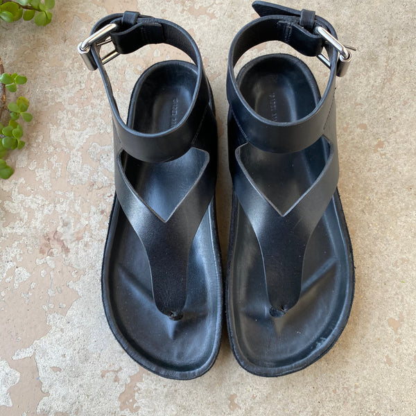 Isabel Marant Black Leather Sandals, Size 35 (US 5)