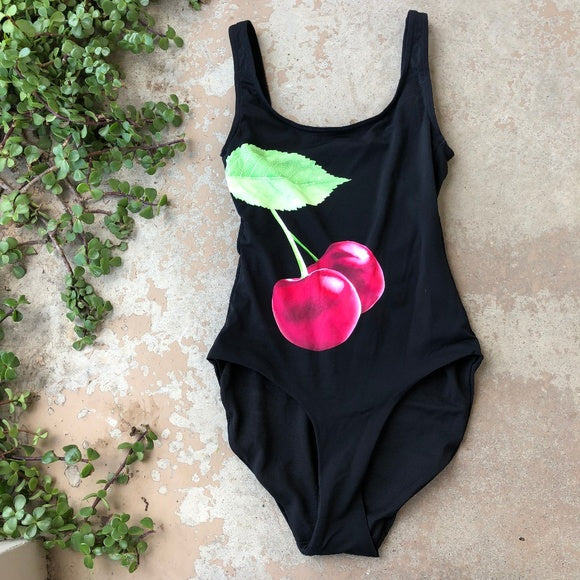 Onia Cherry One Piece Swimsuit, Size small