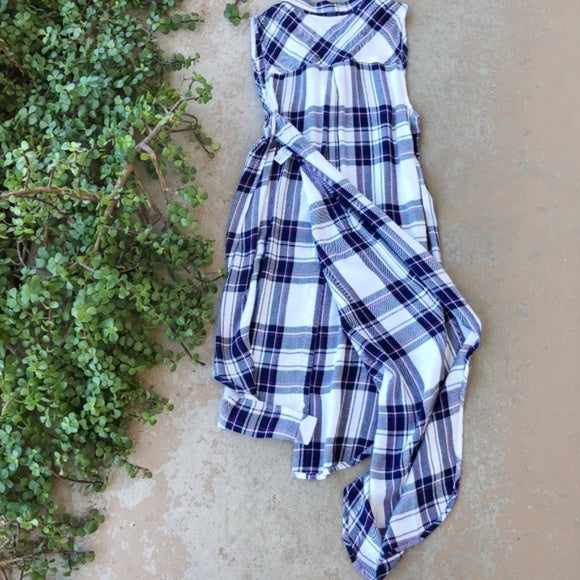 Rails Blue Plaid Tunic, Size XS