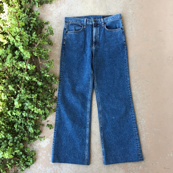 Justine High Rise Crop Wide Leg Jeans, Size 29