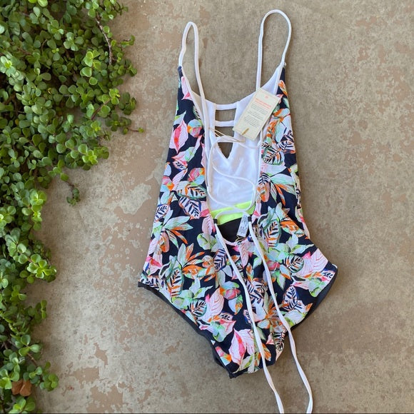 Black Forest Reversible One Piece Swimsuit, Size Large