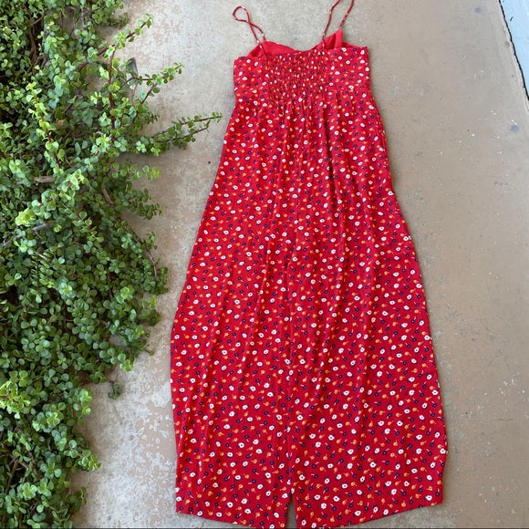 Madewell Floral Wide Leg Jumpsuit, Size 2