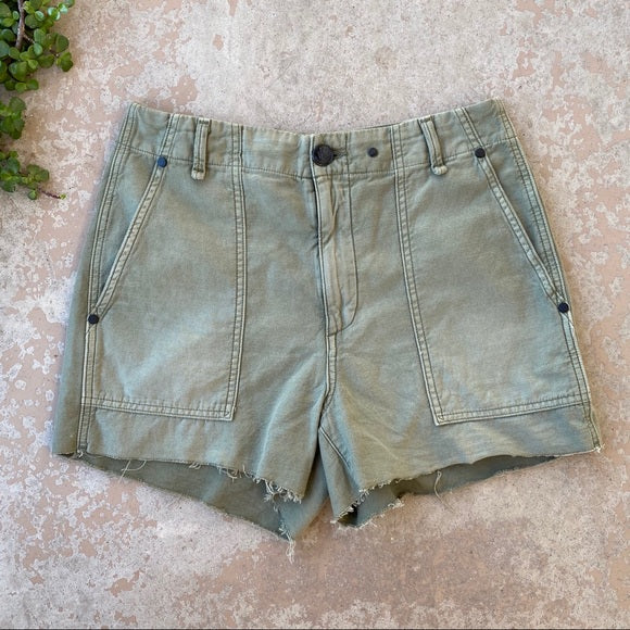 Rag & Bone Super High Rise Army Shorts, Size 26