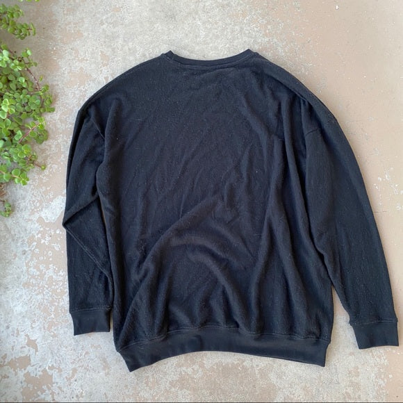 Alo Yoga Black Pullover Lightweight Sweater, Size Medium