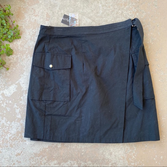 City Chic Cargo Wrap Skirt, Size 14