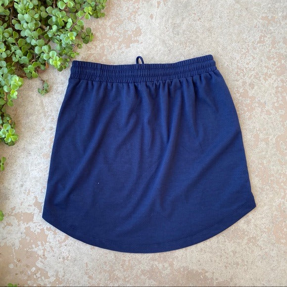 Caslon Nordstrom Navy Lounge Mini Skirt, Size Small