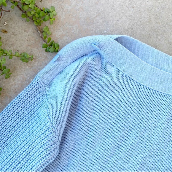Akris Dusty Blue Cashmere Sweater, Fits an XL