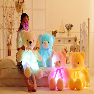 LED Colourful Bright Teddy Bear - Happy Snappy Gifts