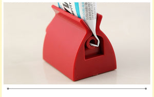 Rolling Tube Toothpaste Squeezer Dispenser Toothpaste Seat Holder Stand - Happy Snappy Gifts