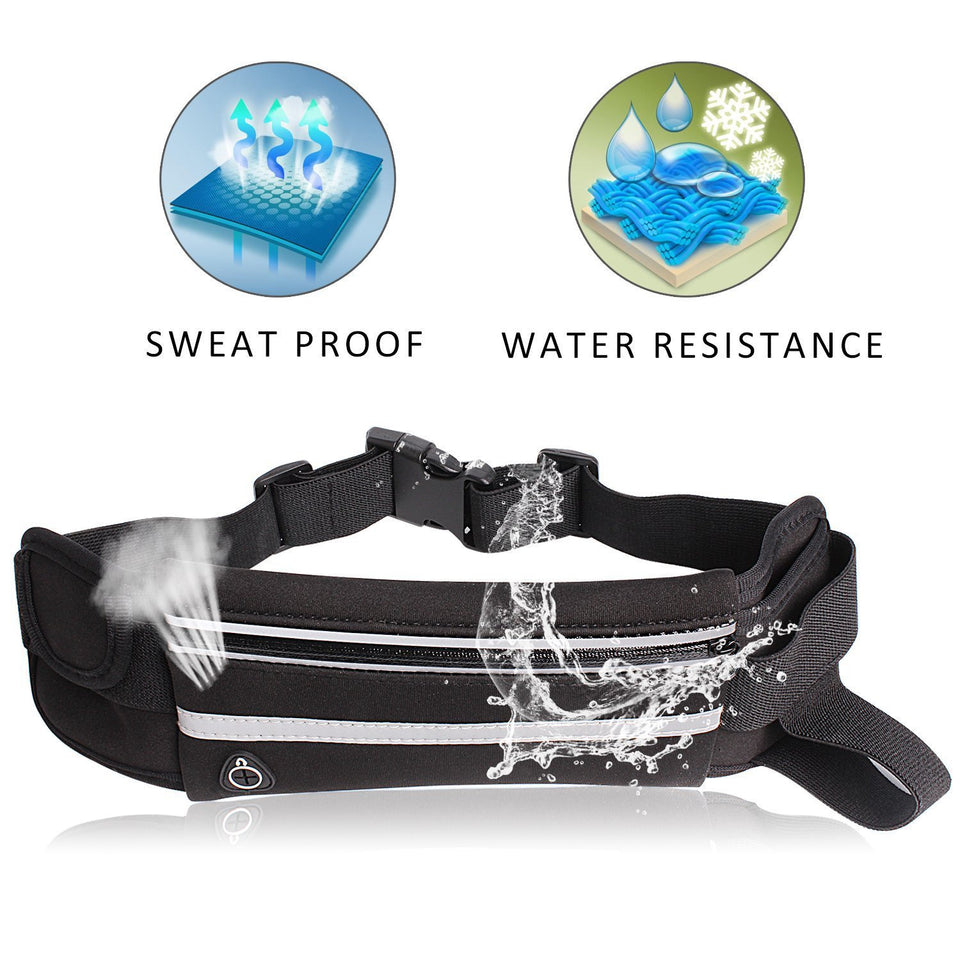 Waterproof Running Waist Belt Bag - Happy Snappy Gifts
