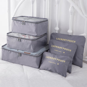 6pcs Travel Organizer Storage Bag Set - Happy Snappy Gifts