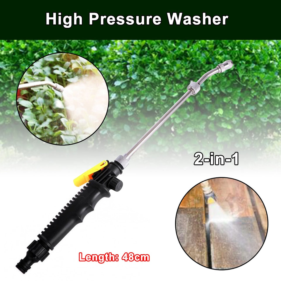 2-in-1 High Pressure Washer Just Simply Attach - Happy Snappy Gifts