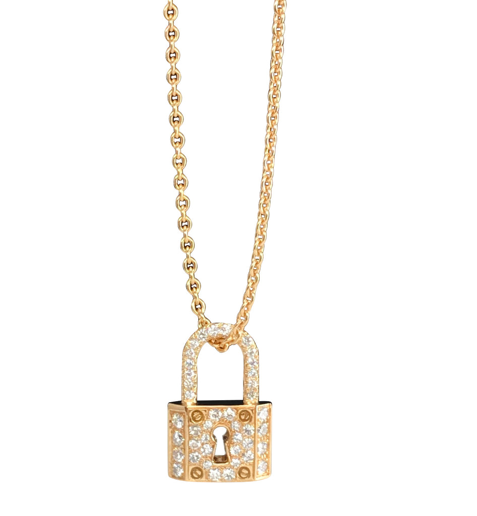 Collier Cadenas pavé diamants