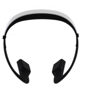 Casque blanc sans laniére Earphone sports à conduction osseuse