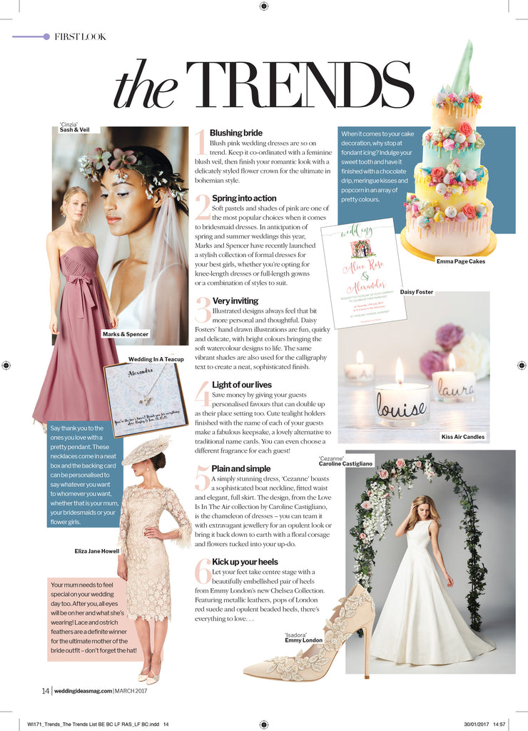 Trending in Wedding Ideas Magazine!