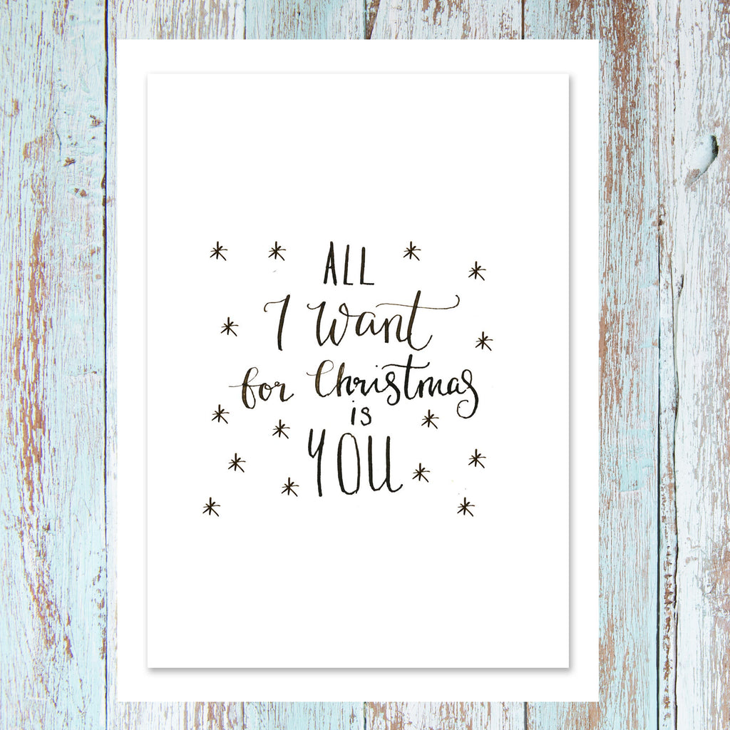 'All I want for Christmas is you' - Personalised card