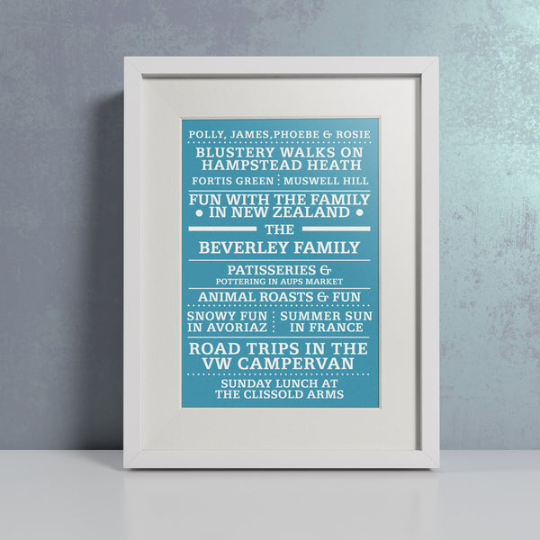 'Our Family' Blue - Personalised