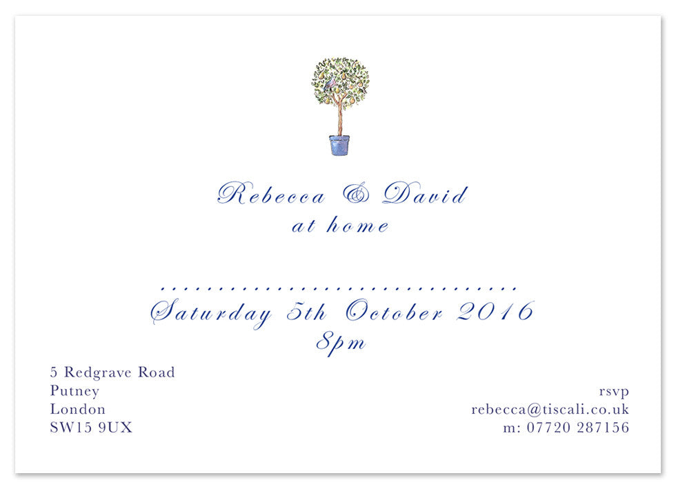 Bay Tree - Personalised Personalised Stationery