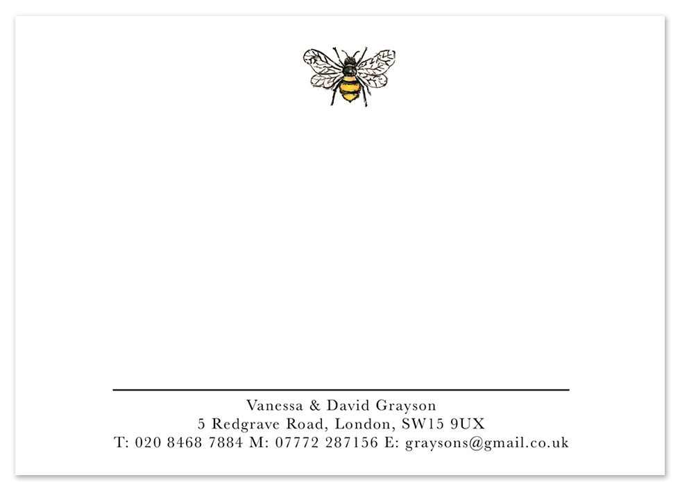 Bumble Bee - Personalised Personalised Stationery