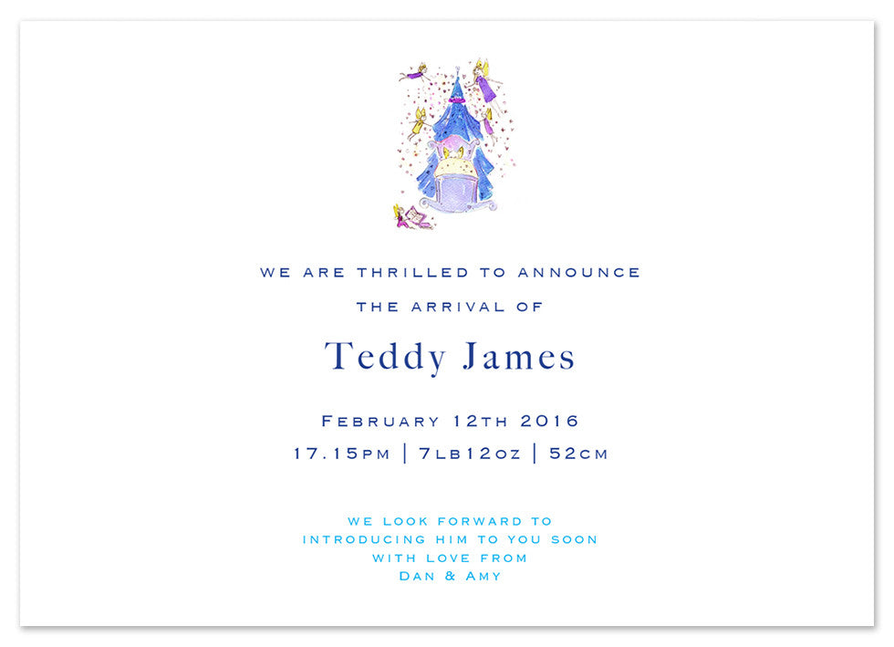 Blue Crib - Personalised Personalised Stationery