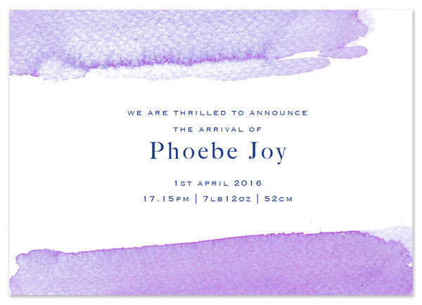Lilac Wash - Personalised Personalised Stationery