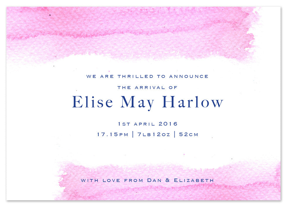 Pink Wash - Personalised Personalised Stationery