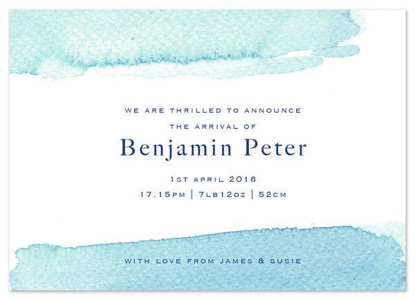 Teal Wash - Personalised Personalised Stationery