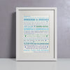 Likes Blues - Personalised Print