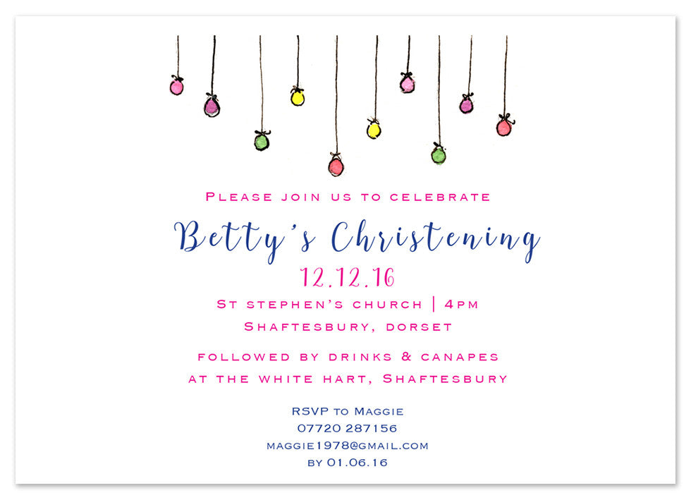 Baubles - Personalised Personalised Stationery