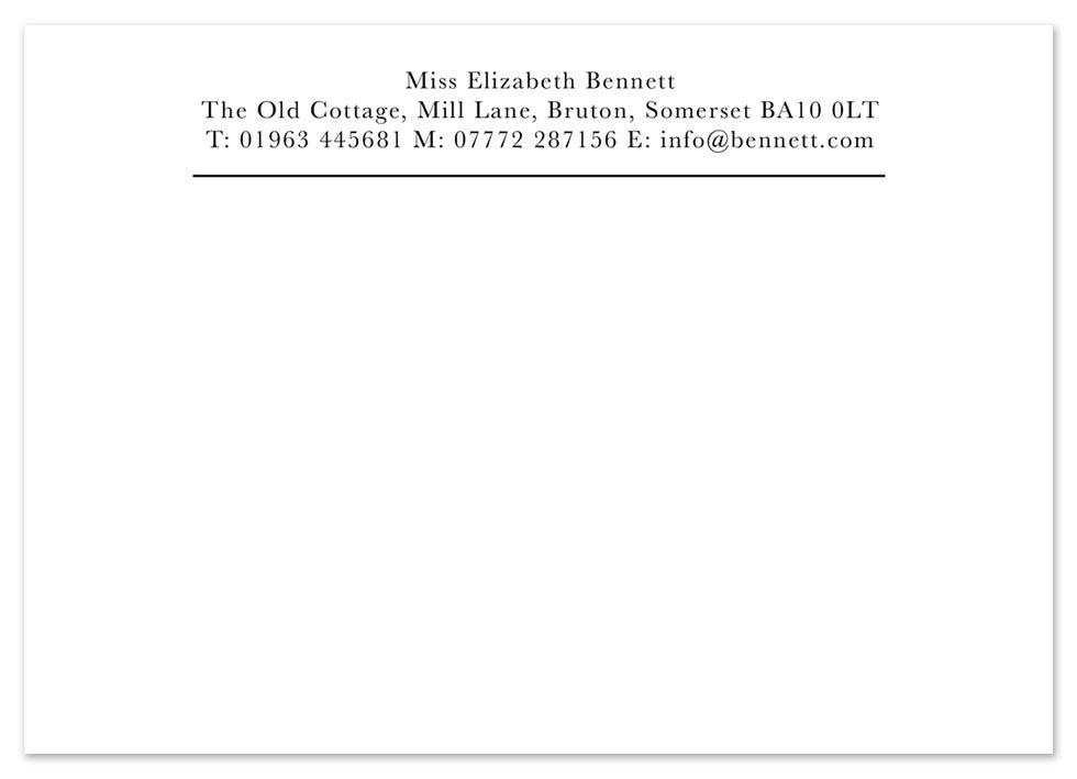 Classic - Personalised Personalised Stationery