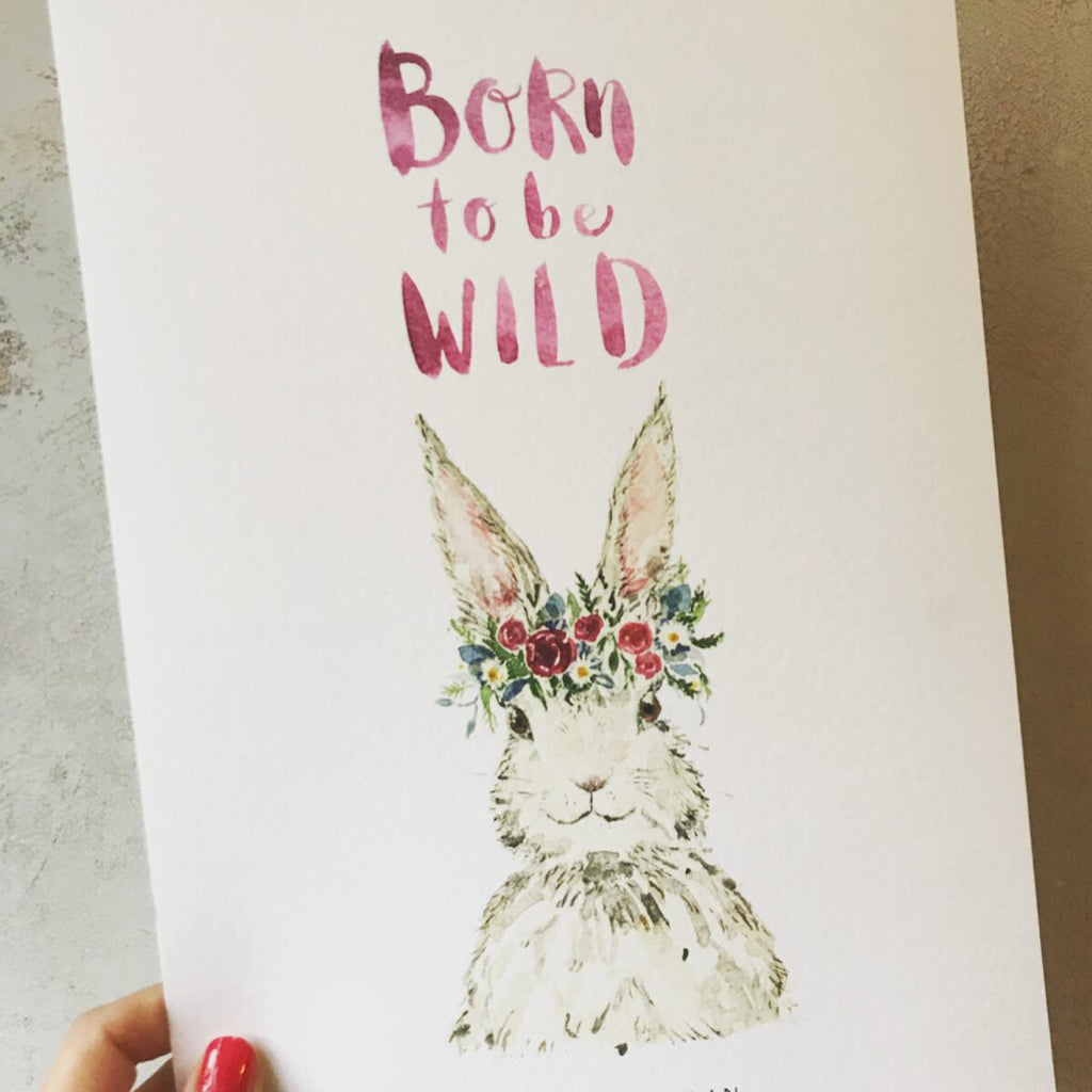Born to be Wild Hare - Personalised Print