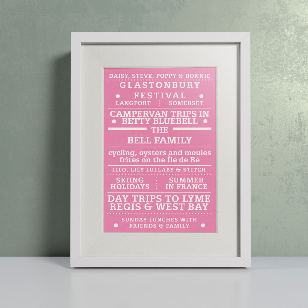 'Our Family' Pink - Personalised