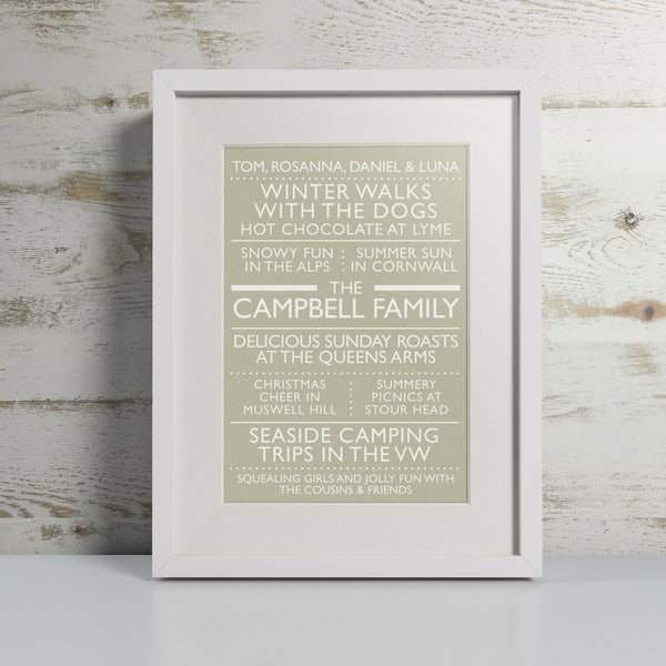 'Our Family' Neutral - Personalised