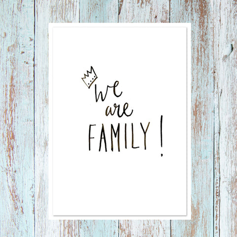 'We are family'