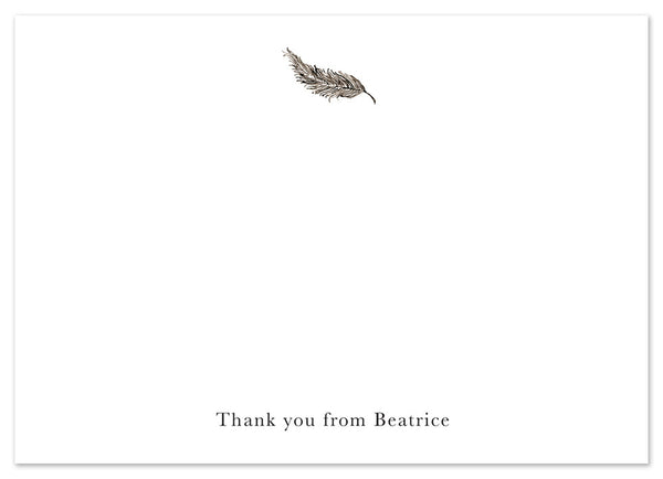 Feather - Personalised Personalised Stationery