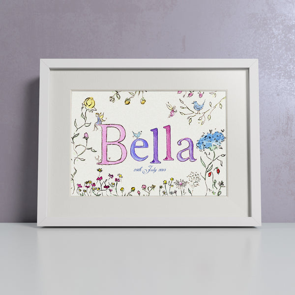 Meadow Flowers - Personalised Print