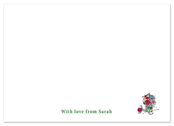 Flowers - Personalised Personalised Stationery