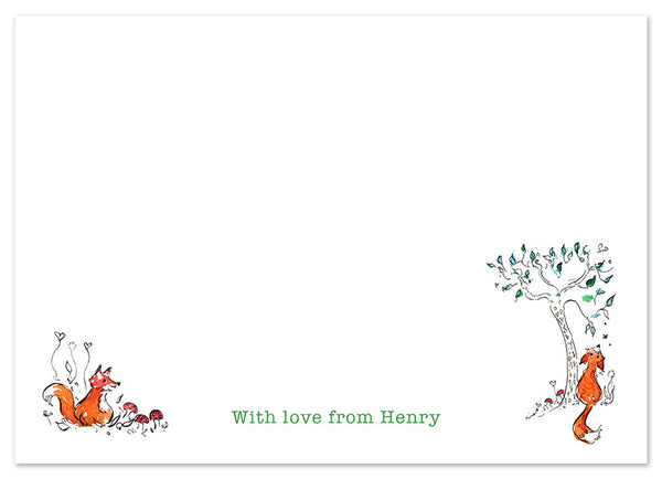 Foxes - Personalised Personalised Stationery