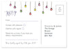 Festoon of lights - Personalised