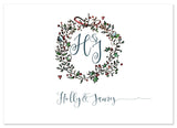 Holly Wreath - Personalised