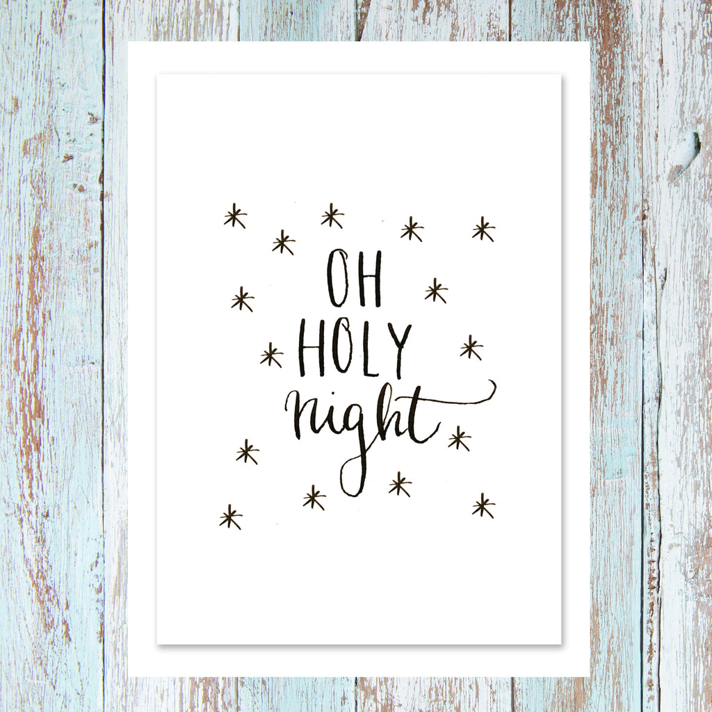 'Oh Holy Night' - Personalised card