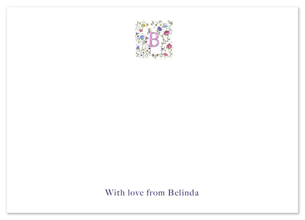 Floral Initial - Personalised Personalised Stationery