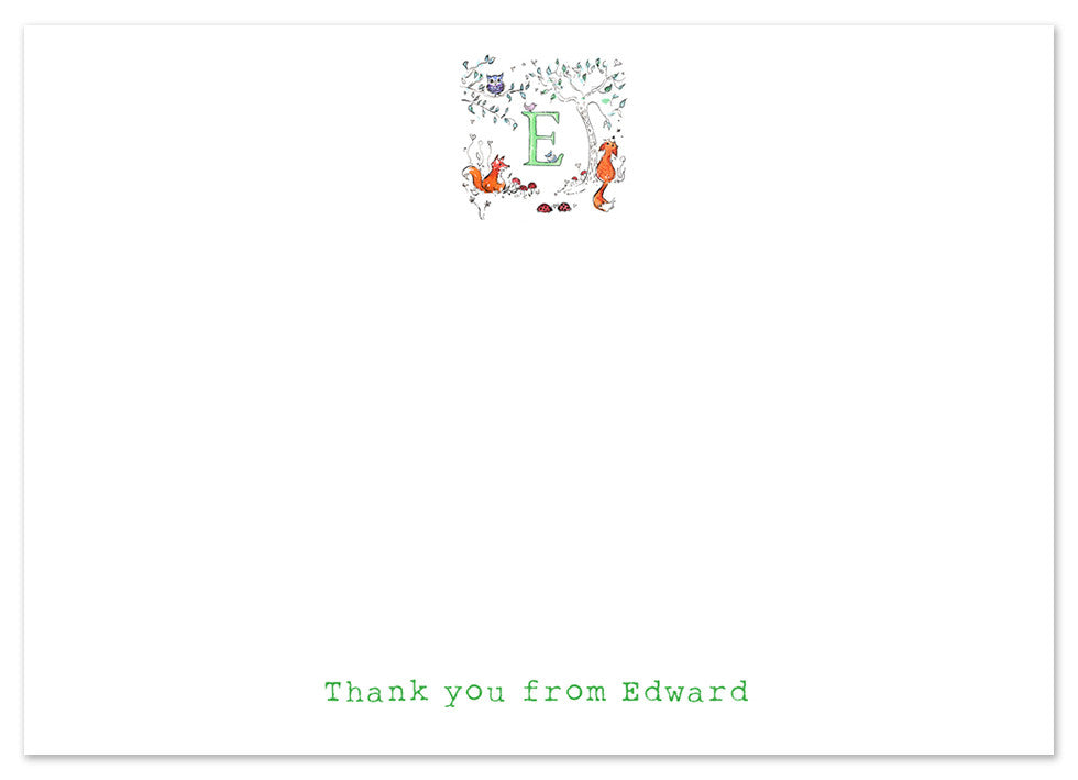 Woodland Initial - Personalised Personalised Stationery