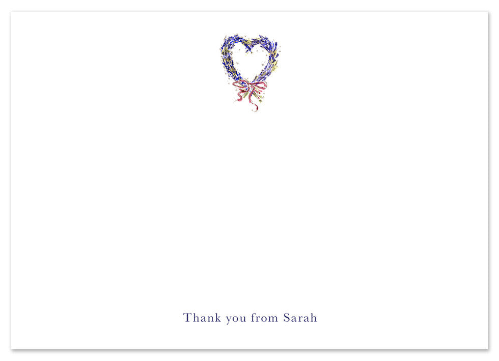 Lavender Heart - Personalised Personalised Stationery