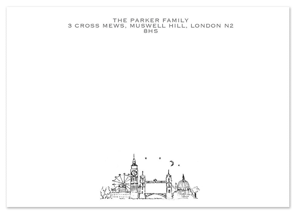 London - Personalised Personalised Stationery