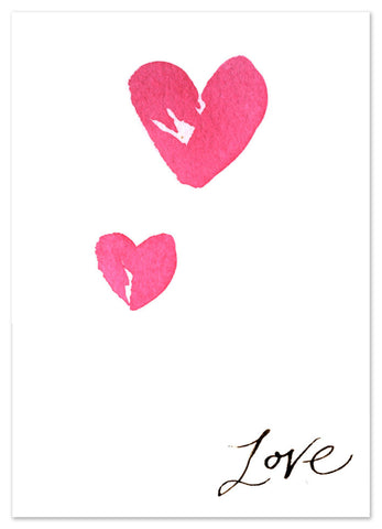 'Love' hearts card